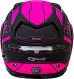 Шлем GMax Pink/Black MD01S модуляр с двойным визором, фото 4