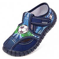 Тапочки детские Viggami Tubis sport синие на мальчика 26