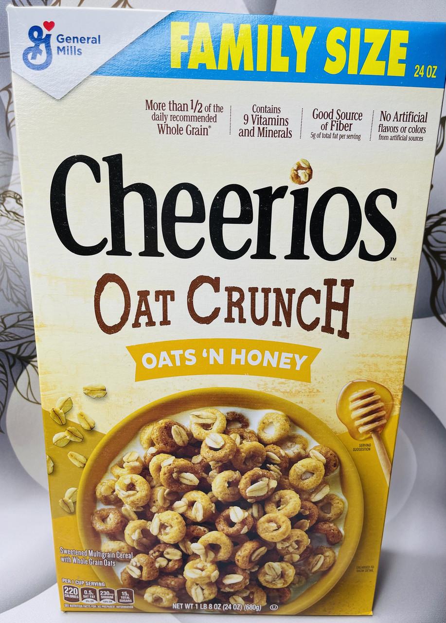 Сухий сніданок Cheerios овсянные колечка з медом