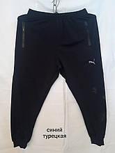 Спортивні штани чоловічі чорні PUMA replik молодіжні манжет розмір M_3XL купити оптом зі складу 7км Одеса