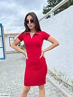 Сукня жіноча приталені однотонне по коліно прогулянкове спортивний стиль р-ри 42-46арт. 006, фото 1