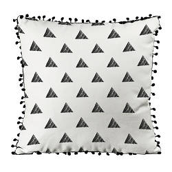 Подушка из мешковины с помпонами Треугольник из линий 45x45 см (45PHBP_FLORA002)
