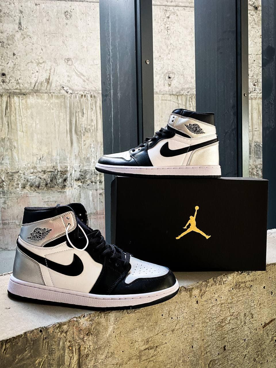 Мужские кроссовки Nike Air Jordan 1 Mid White Shadow
