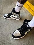 Мужские кроссовки Nike Air Jordan 1 Mid White Shadow, фото 6