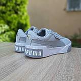Женские кроссовки Puma Cali серые, фото 2