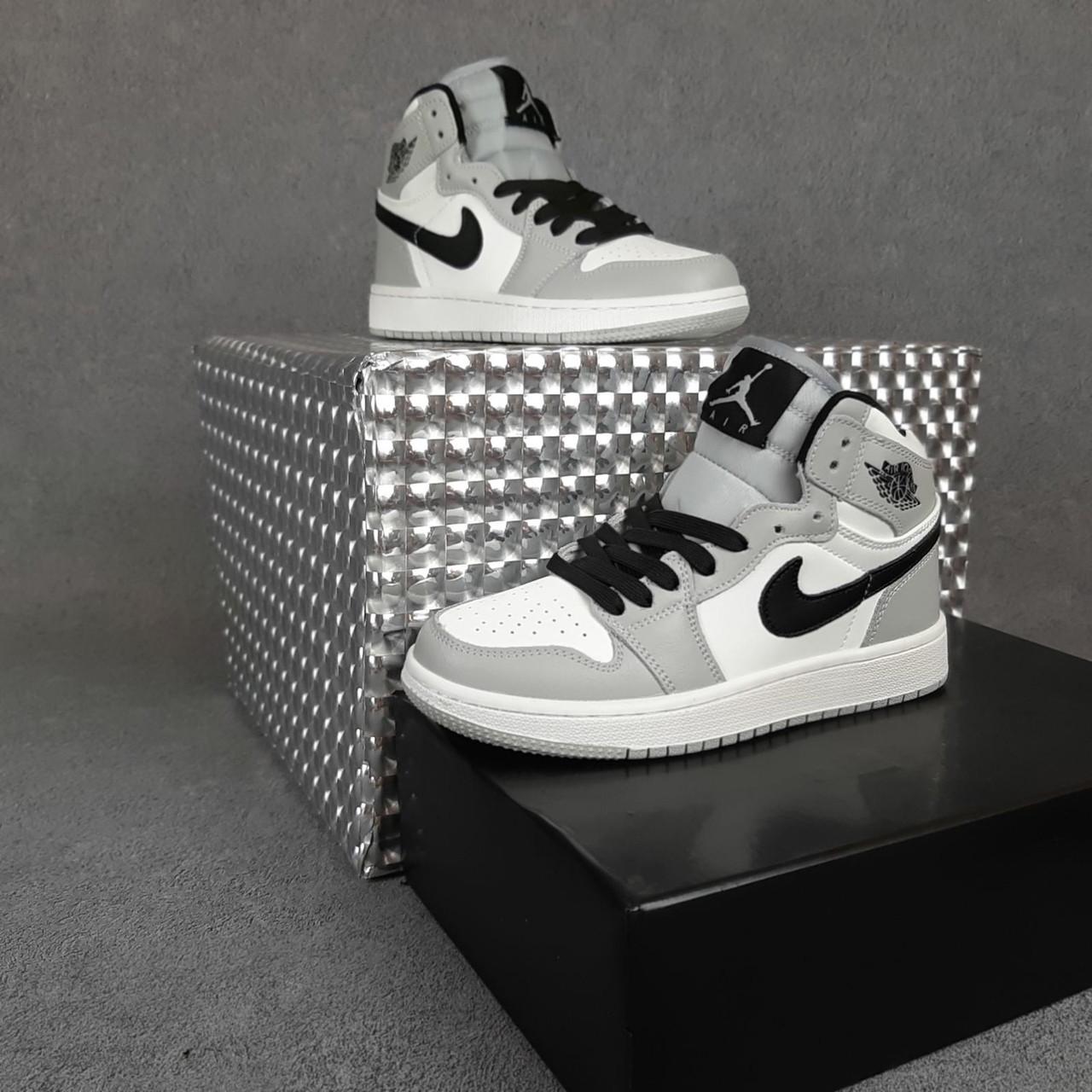Мужские кроссовки Nike Air Jordan Белые с серым