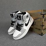 Мужские кроссовки Nike Air Jordan Белые с серым, фото 5