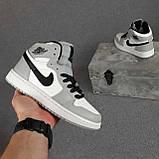 Мужские кроссовки Nike Air Jordan Белые с серым, фото 6