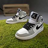 Мужские кроссовки Nike Air Jordan Белые с серым, фото 8