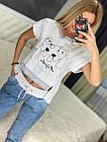Женский трикотажный спортивный костюм (Турция); Размеры:Л,ХЛ (полномерные), фото 3