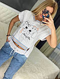 Жіночий трикотажний спортивний костюм (Туреччина); Розміри:Л,ХЛ (повномірні), фото 3