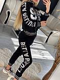 Женский трикотажный спортивный костюм, украшен апликациями из камней (Турция); разм S M, фото 2