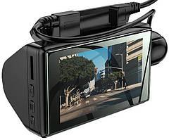 Відеореєстратор HOCO Di07 з двома камерами HD, чорний