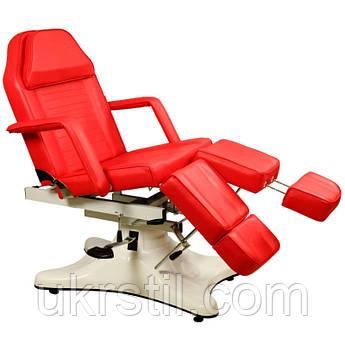 Педикюрно-косметологическая кушетка ZD-823A красная