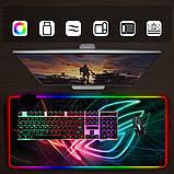 Геймерский коврик для мышки SKY (GMS-WT 9040/101) RGB подсветка 90x40 см, фото 4