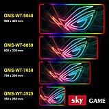Геймерский коврик для мышки SKY (GMS-WT 8030/102) RGB подсветка 80x30 см, фото 5