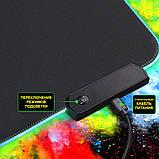 Геймерский коврик для мышки SKY (GMS-WT 8030/102) RGB подсветка 80x30 см, фото 7