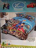 Комплект постельного белья детский  Спайдермен  полуторный размер Байка ( Фланель) Синего цвета, фото 3