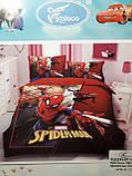 Комплект постельного белья детский  Спайдермен  полуторный размер Байка ( Фланель) Синего цвета, фото 4