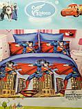 Комплект постельного белья детский  Спайдермен  полуторный размер Байка ( Фланель) Синего цвета, фото 5
