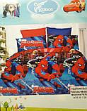 Комплект постельного белья детский  Спайдермен  полуторный размер Байка ( Фланель) Синего цвета, фото 6