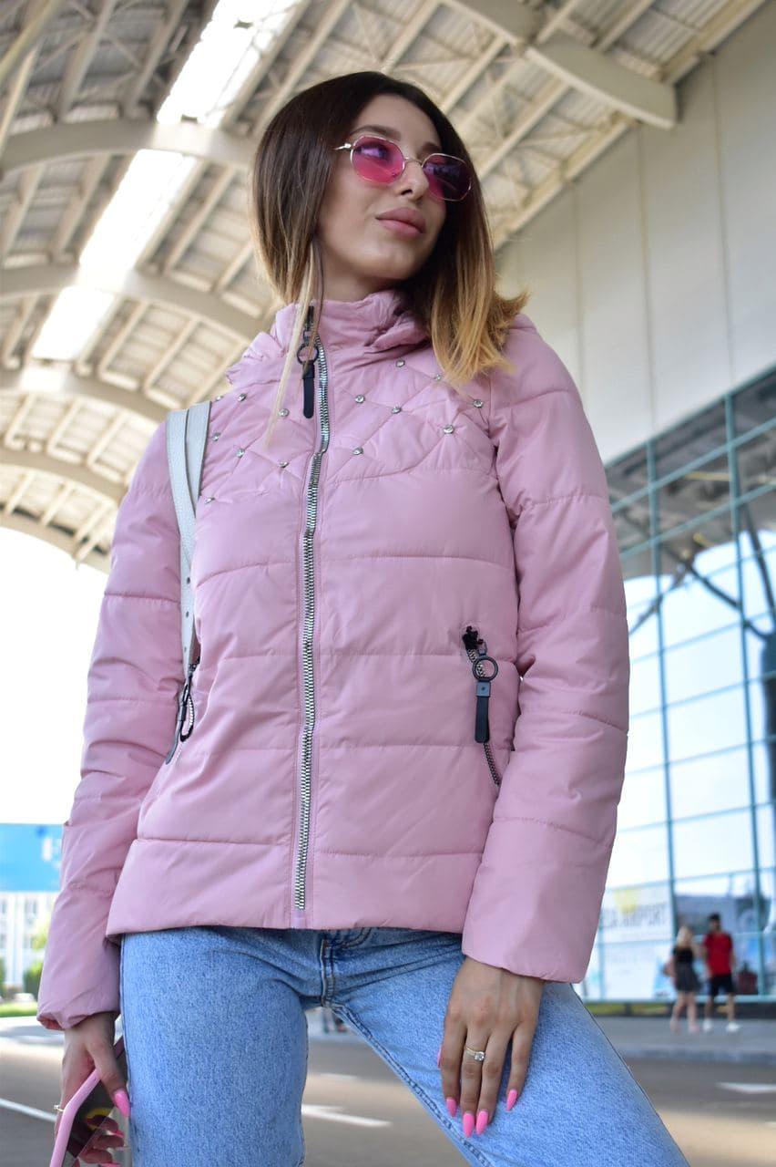 Куртка женская пудровая демисезонная код П308