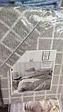 Байковий комплект постільної білизни двосторонній Байка ( фланель) Клітина Сіро - бежевого кольору, фото 2