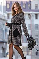 Женские плащи, тренчи - 4215-гу - Теплый модный вязаный тренч «Мишель», длинный кардиган, кардиган стильный