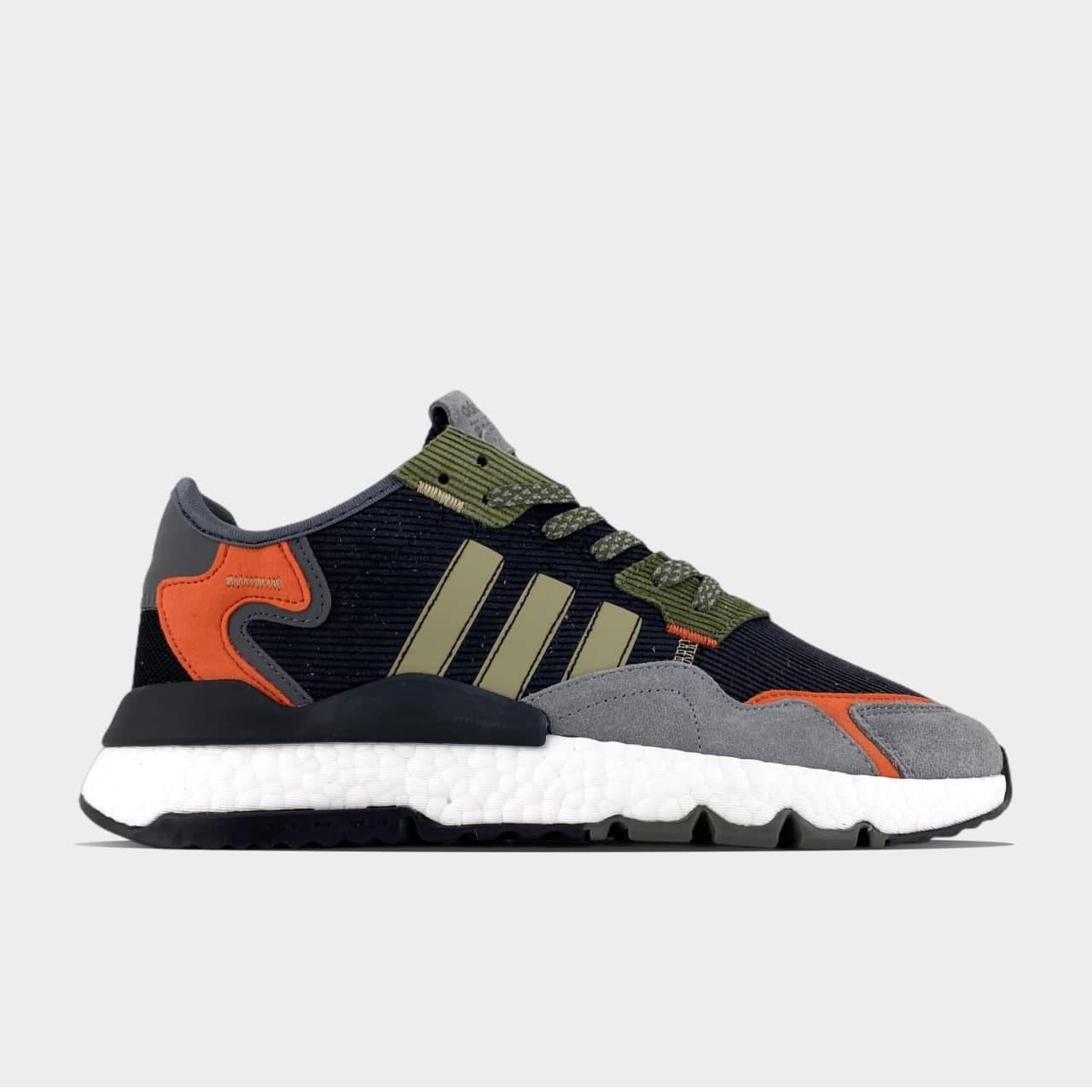 Мужские кроссовки Adidas Nite Jogger Green Orange White (Черный) C-3366