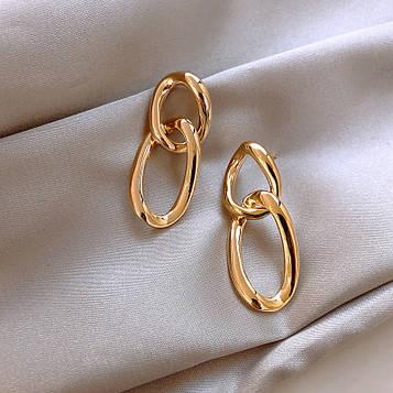 Женские золотистые серьги код 2105