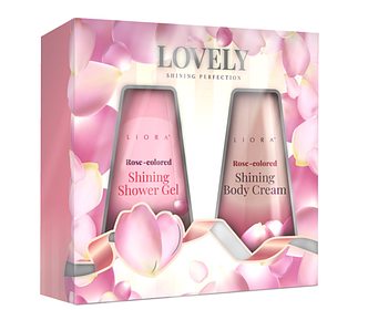 Набір косметичний Liora Lovely (гель для душу 150 мл+ крем для тіла 150 мл)