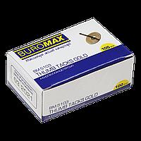 Кнопки золотисті 100 шт в коробці карт