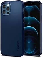 Чехол Spigen для iPhone 12 / 12 Pro Thin Fit, Navy Blue (ACS02296)
