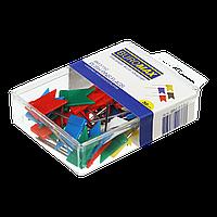 Кнопкигвоздики кольорові ПРАПОРЦІ 30 шт в пласткоробке