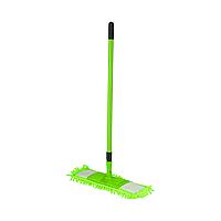 /Швабра для уборки телескопическая микрофибра 1000 пальцев 44 см зеленая