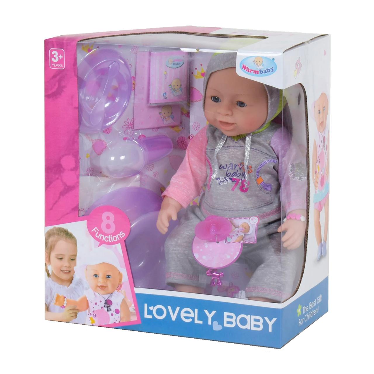 Інтерактивний пупс з аксесуарами Lovely Baby 42 см. Вид 9