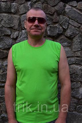 Футболка безрукавка мужская салатная, фото 2