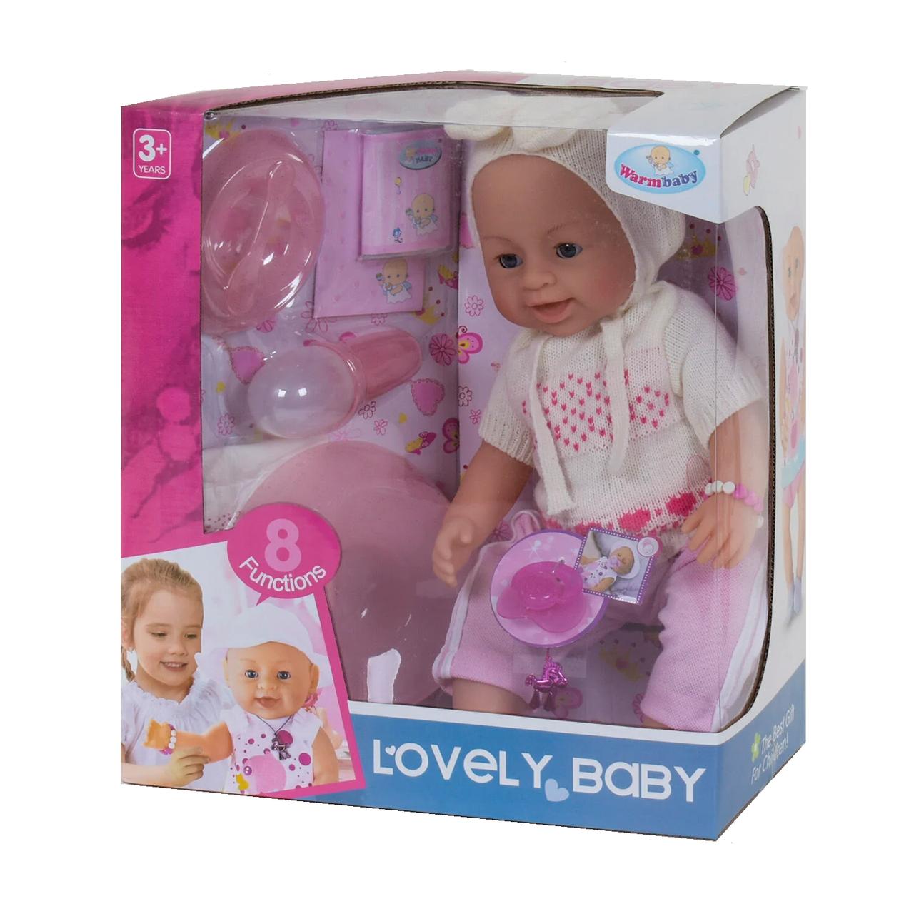Интерактивный пупс с аксессуарами Lovely Baby 42 см Вид 5