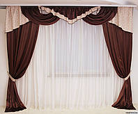 Классические шторы для зала