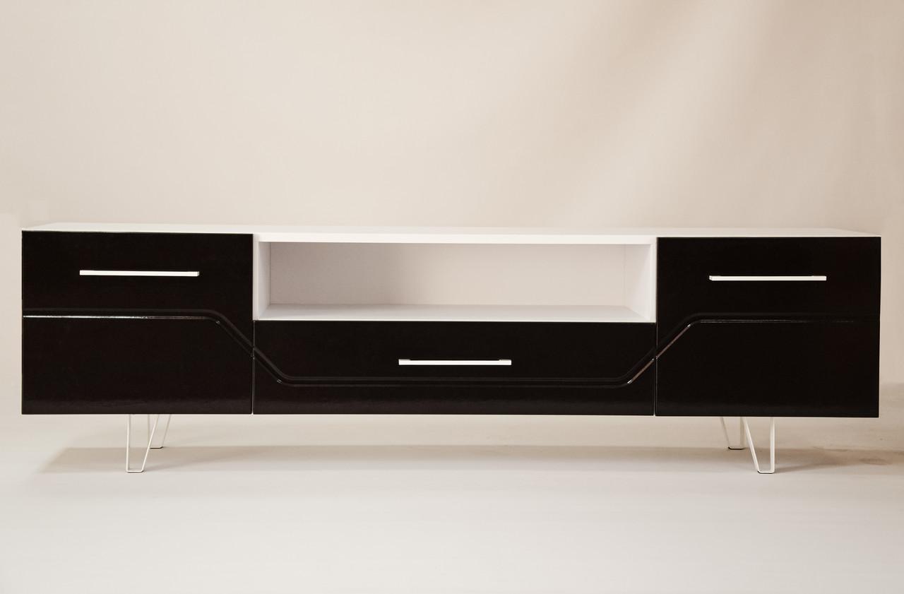 Тумба TV Intarsio Maggio Білий / Бордово-бронзовий хамелеон (MAGGIO_TV_2D1S )