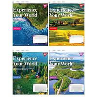 Тетрадь ученическая А5 18 клетка 1В YES Experience your world упаковка 25 шт 765510