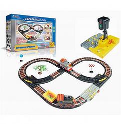 Железная дорога с паровозом,световыми и звуковыми эффектами  детская игрушка( 12 элементов)