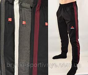 Штани спортивні чоловічі трикотажні під манжет з широкою лампасой Reebok