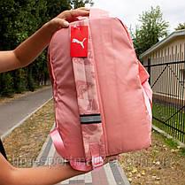 Рюкзак Puma (Рожевий квітковий принт), фото 2
