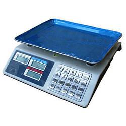 Торговые электронные весы до 50 кг Domotec 982S Metall Button (par_MS 982)