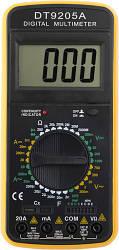 Цифровой мультиметр Kronos DT9205A (DCV 1000В, ACV 750В,DCA 20A, ACA 20A, 2ГОм, 200мкФ) (mdr_1180)