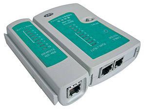 Тестер Kronos RJ45 LAN витой пары сетевых кабелей RJ-45 RJ-11 RJ-12 (gr_000398)