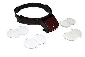 Лупа-очки бинокулярные Magnifier MG81001-B 1.7X 2X 2.5X 3.5X со светодиодной подсветкой (mdr_6537)
