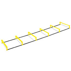 Координационная лестница Sprinter с барьерами 6 ступеней для тренировки скорости (spr_39057)