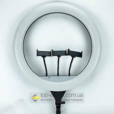 Кільцева лампа 45 см зі штативом на 2м лампа для селфи лампа для твк струму, фото 3